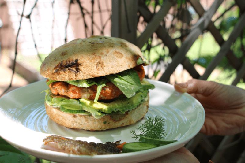 sandwich au saumon grillé