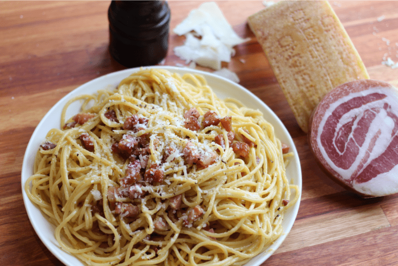 Les vrais spaghettis carbonara