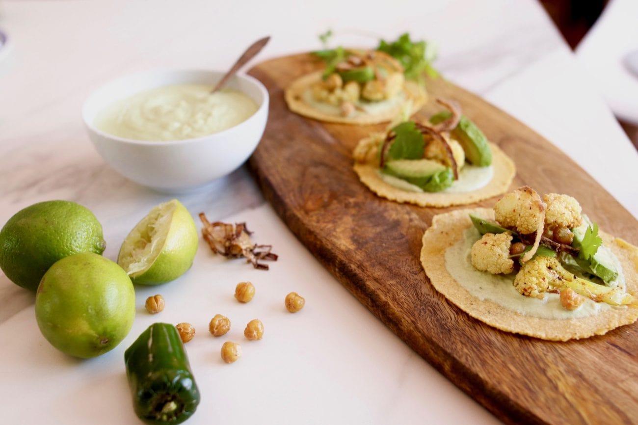 Tacos au chou-fleur rôti