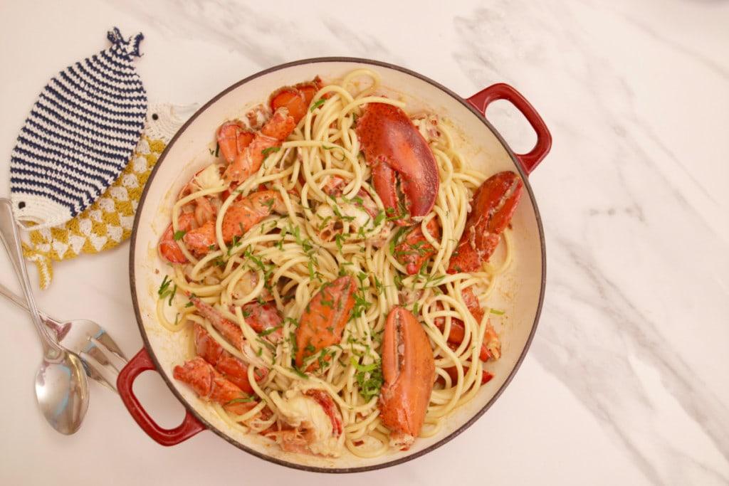 spaghetti au homard lobster du Joe Beef