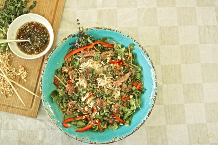 salade de boeuf thai vietnamienne