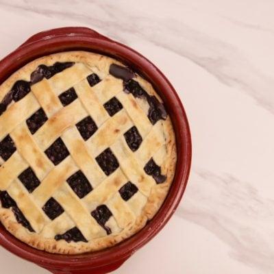 tarte aux myrtilles ou bleuets