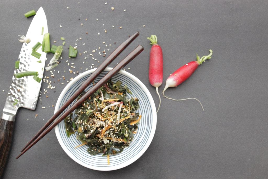 Salade d'algues wakame japonaise