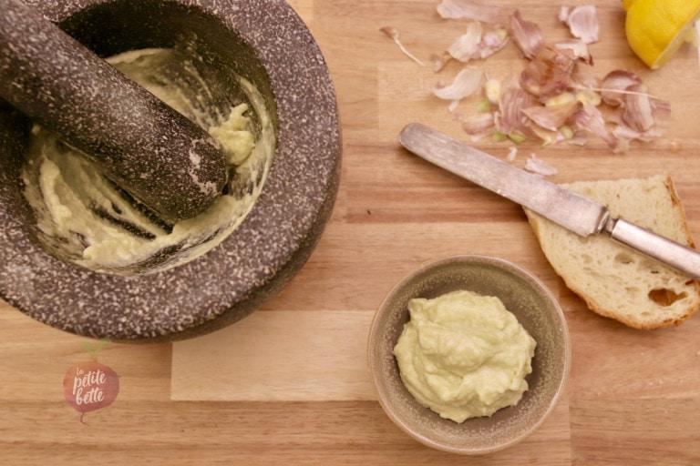 aioli sauce à l'ail traditionnelle