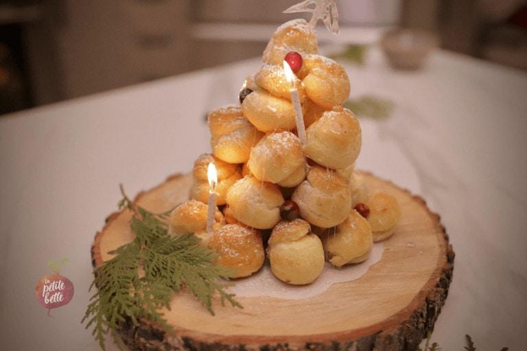 Sapin de profiteroles (piece montee festive)