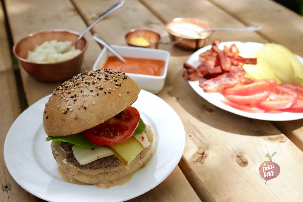 Pains burger thermomix levain