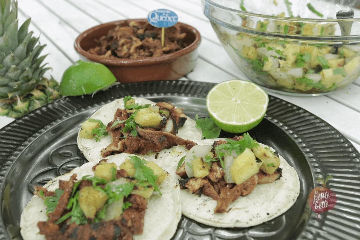 taco porc et ananas