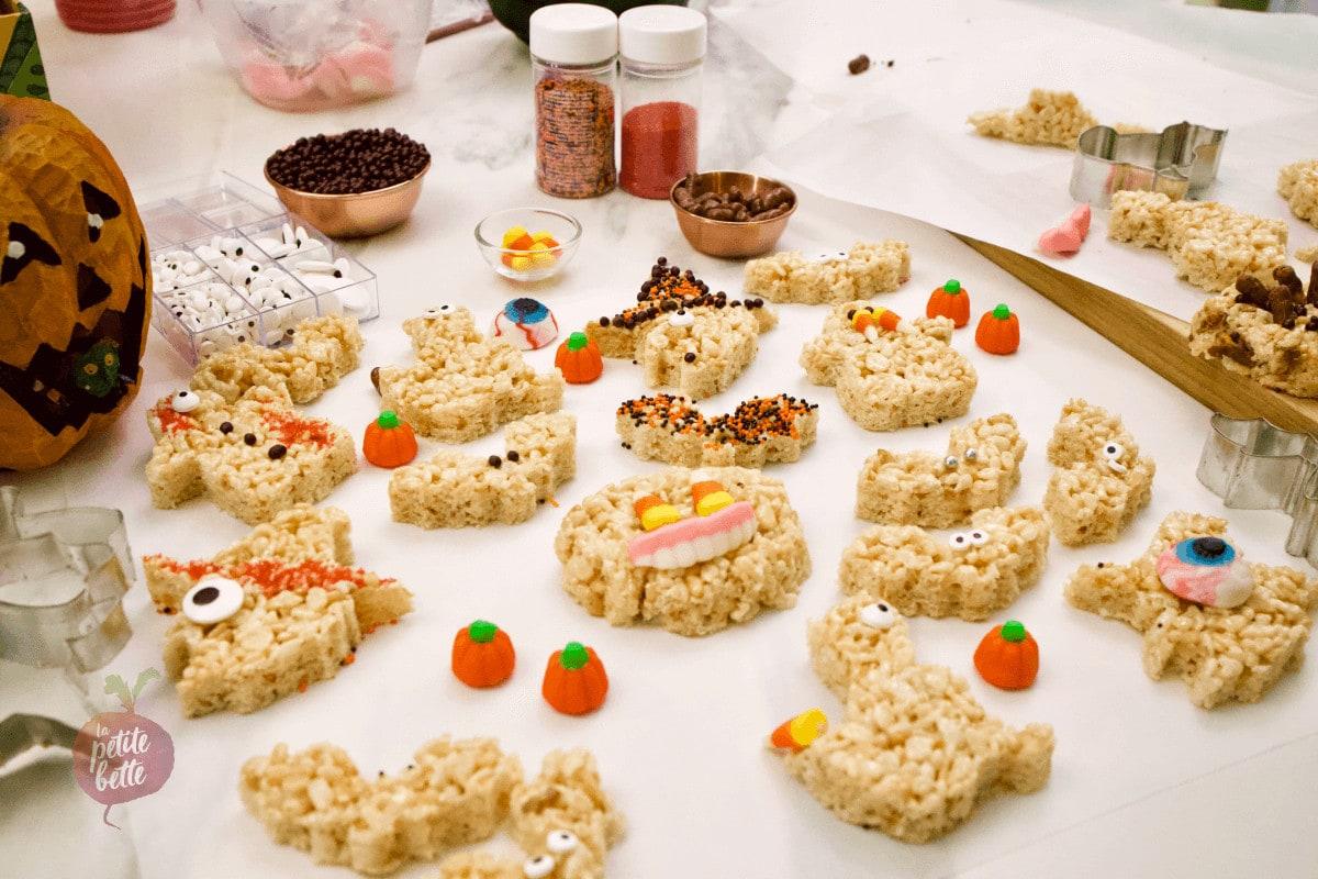Carrés Rice Krispies square Halloween