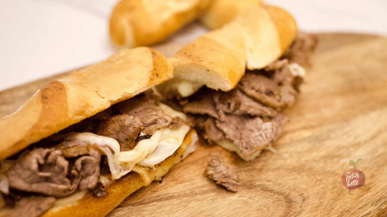 Le vrai sandwich Philly Cheese-steak