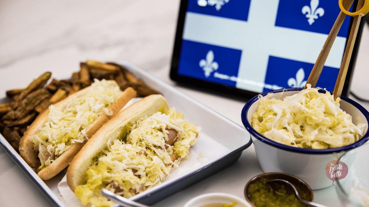 Recette hot-dog quebec avec salade de chou