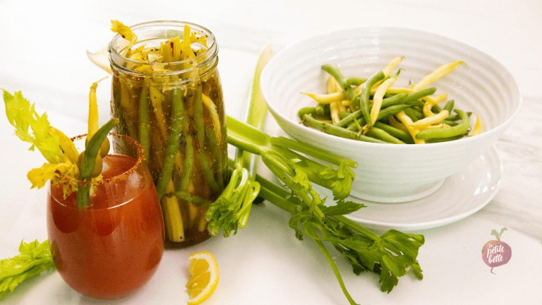 Recette marinade légumes Bloody Ceasar