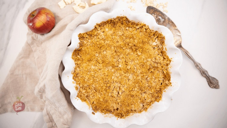 Crumble pommes et fromage en grains
