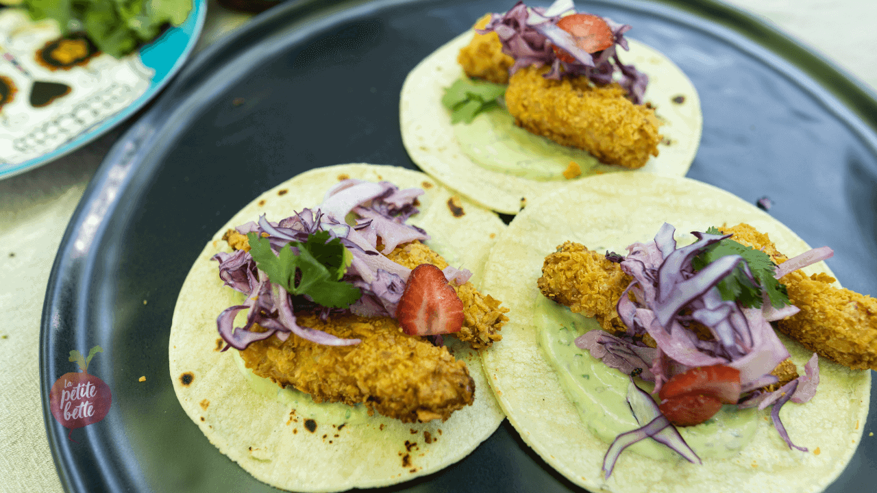 Tacos au poisson pané croustillant