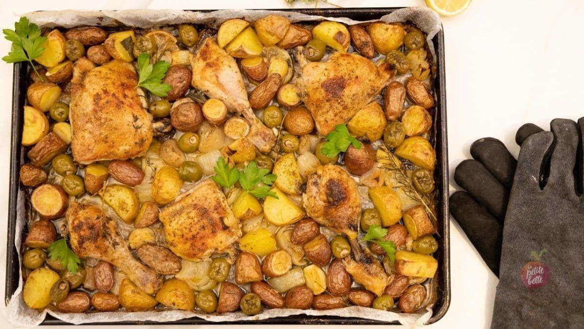 recette poulet pommes de terre grec